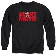 Scary Movie  Sweatshirt Logo Adult Black Sweat Shirt