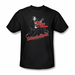 School Of Rock Shirt Rockin Adult Black Tee T-Shirt