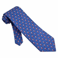 Score Tie Blue Silk Necktie � Mens Sports Neck Tie