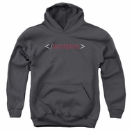 Scorpion Kids Hoodie Logo Charcoal Youth Hoody