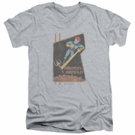 Scorpion Slim Fit V-Neck Shirt Proton Arnold Athletic Heather T-Shirt