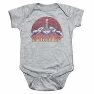 Scorpions Baby Romper Distressed Logo Athletic Heather Infant Babies Creeper