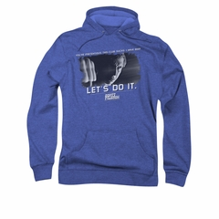 Scott Pilgrim Vs. The World Hoodie Sweatshirt Beef Royal Blue Adult Hoody Sweat Shirt