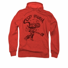 Scott Pilgrim Vs. The World Hoodie Sweatshirt Rockin Red Adult Hoody Sweat Shirt