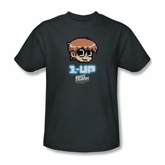 Scott Pilgrim Vs. The World Shirt 1 Up Adult Charcoal Tee T-Shirt
