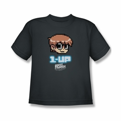 Scott Pilgrim Vs. The World Shirt Kids 1 Up Charcoal Youth Tee T-Shirt