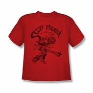Scott Pilgrim Vs. The World Shirt Kids Rockin Red Youth Tee T-Shirt