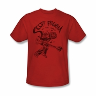 Scott Pilgrim Vs. The World Shirt Rockin Adult Red Tee T-Shirt