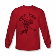 Scott Pilgrim Vs. The World Shirt Rockin Long Sleeve Red Tee T-Shirt