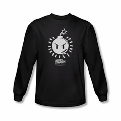 Scott Pilgrim Vs. The World Shirt Sex Bob Omb Logo Long Sleeve Black Tee