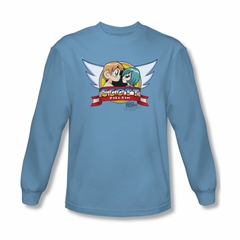 Scott Pilgrim Vs. The World Shirt Sonic Scott Long Sleeve Carolina Blue Tee T-Shirt