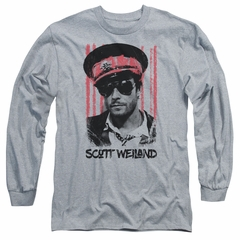 Scott Weiland Long Sleeve Shirt Black Hat Athletic Heather Tee T-Shirt
