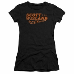 Scott Weiland Shirt Juniors Logo Black T-Shirt