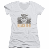 Scott Weiland Shirt Juniors V Neck Blaster White T-Shirt