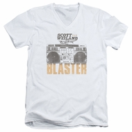Scott Weiland Shirt Slim Fit V-Neck Blaster White T-Shirt