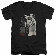 Scott Weiland Shirt Slim Fit V-Neck Not Dead Black T-Shirt