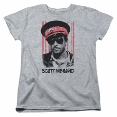 Scott Weiland Womens Shirt Black Hat Athletic Heather T-Shirt