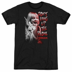 Scream  Don't Hang Up The Phone Black Ringer Shirt