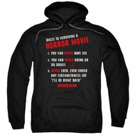 Scream  Hoodie Rules To Surviving A Horror Movie Black Sweatshirt Hoody