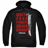 Scream  Hoodie What's Your Favorite Scary Movie Black Sweatshirt Hoody