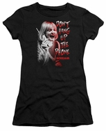 Scream  Juniors Shirt Don't Hang Up The Phone Black T-Shirt