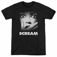 Scream  Movie Poster Black Ringer Shirt
