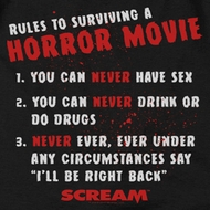 Scream Rules To Surviving A Horror Movie Shirts
