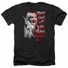 Scream Shirt Don't Hang Up The Phone Heather Black T-Shirt