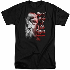 Scream Shirt Don't Hang Up The Phone Tall Black T-Shirt