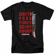Scream Shirt What's Your Favorite Scary Movie Black T-Shirt