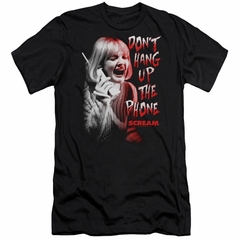 Scream  Slim Fit Shirt Don't Hang Up The Phone Black T-Shirt