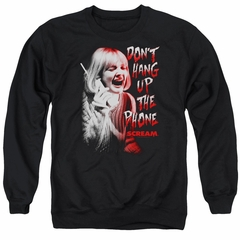 Scream  Sweatshirt Don't Hang Up The Phone Adult Black Sweat Shirt
