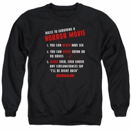 Scream  Sweatshirt Rules To Surviving A Horror Movie Adult Black Sweat Shirt