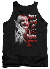 Scream  Tank Top Don't Hang Up The Phone Black Tanktop
