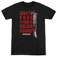 Scream  What's Your Favorite Scary Movie Black Ringer Shirt