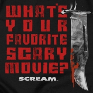 Scream What's Your Favorite Scary Movie Shirts