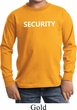 Security Guard Kids Long Sleeve Shirt