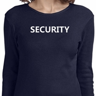 Security Guard Ladies Long Sleeve Shirt