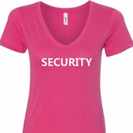 Security Guard Ladies V-Neck Shirt