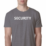 Security Guard Mens Burnout Shirt