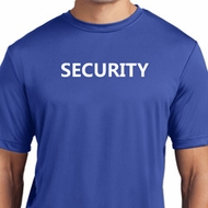 Security Guard Mens Moisture Wicking Shirt