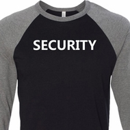 Security Guard Mens Raglan Shirt