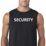 Security Guard Mens Sleeveless Shirt