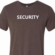 Security Guard Mens Tri Blend Crewneck Shirt