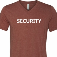 Security Guard Mens Tri Blend V-neck Shirt