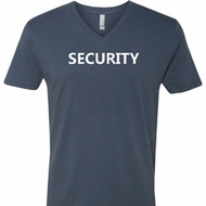 Security Guard Mens V-Neck Shirt