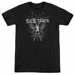 Seether Suffer Black Ringer Shirt