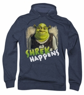Shrek Hoodie Sweatshirt Happens Navy Blue Adult Hoody Sweat Shirt