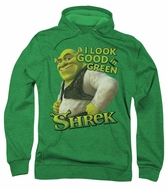 Shrek Hoodie Sweatshirt Looking Good Kelly Green Adult Hoody Sweat Shirt