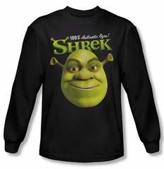 Shrek Shirt Authentic Ogre Long Sleeve Black Tee T-Shirt